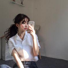 30 ideas makeup korean style ulzzang we heart it Mode Ulzzang, Ulzzang Korean Girl, Cute Korean Girl, Kfashion Ulzzang, Uzzlang Girl, Makeup Korean Style, Makeup Style, Korean Fashion Trends, Fashion Ideas