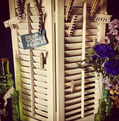 Mini blinds diy craft with clothespins