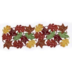 """Celebrate+Fall+Together+Leaves+Cutout+Table+Runner+-+36"""""""
