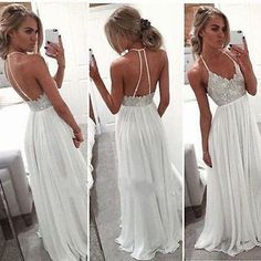 Newest-Halter-Beach-Summer-Chiffon-Bridal-Gown-Wedding-Dress-4-6-8-10-12-14-16