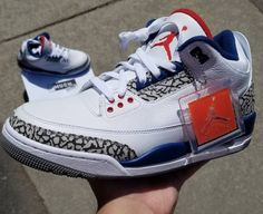 """quality design f6960 04af1 Air Jordan 3 OG """"True Blue""""   8 amp 9 Clothing Co. Jordan"""