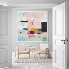 Abstract No. 109 - on Canvas - Snoogs & Wilde Pink Abstract, Abstract Art, Living Room Art, Fine Art Paper, Painting Inspiration, Decoration, Fine Art Prints, Gallery Wall, Wall Art