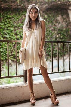 love the nude dress.