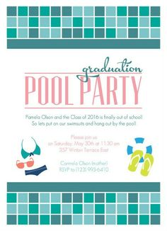 Graduation pool party ideas decorations invitations wording graduation pool party ideas decorations invitations wording samples graduation pinterest luau filmwisefo