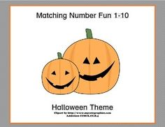 This fun themed matching game has your students matching the numeral and the word to the number of Halloween images.  They count, identify the correct numeral, and read the word as well.  All great practice while they're having fun.  Two suggested activities are included.