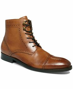 48113f742acb Johnston   Murphy Tyndall Cap-Toe Lace Boots Men - All Men s Shoes - Macy s