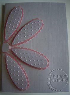 Deb's Cards: Cuttlebug Flower
