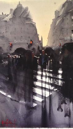Alvaro Castagnet watercolor Paris