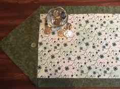 St. Patty's Luck Table Runner  Green Floral by SheliInStitches