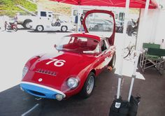 At Laguna Seca, was a Matra Djet, which could be the first mid-engine production car