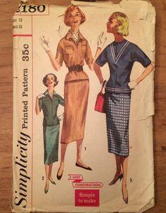 1950's Two-Piece Dress Vintage Simplicity 2180 by LagunaLane