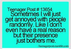 Teenage posts.