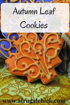 Autumn Leaf Cookies- want to make cookies to celebrate the changing of seasons?  Check out these beautiful Autumn Leaf Cookies!