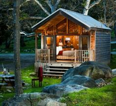 Cool cabin. For the guests.