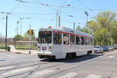 SEPTA LRV on Rt.13 at 58&Chester.