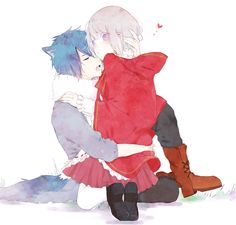 Norn9 #Anime #Otome #Game little red riding hood and wolf anime couple