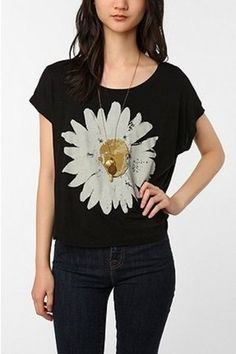 floral graphic tee - Google Search