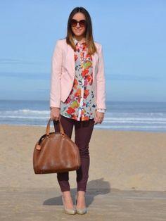 misspeonies Outfit  blanco zara mango Carolina Herrera camisa de flores  Invierno 2012. Cómo vestirse y combinar según misspeonies el 4-2-2013