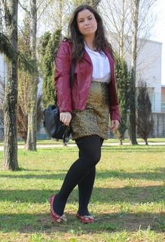 GOLDEN SEQUINS #outfit , Primark in Jackets, H&M in Skirts, Zara in Flats, Zara Trafaluc in Bags