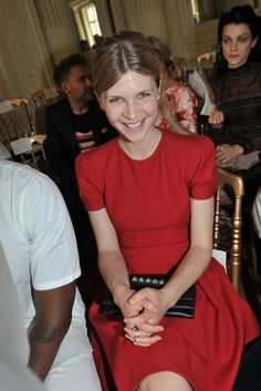 Clemence Poesy front row at Valentino