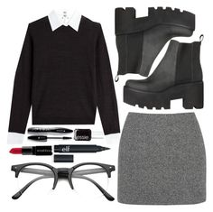 """""""RAVEN af"""" by ciao-sophie ❤ liked on Polyvore featuring Essie, Steffen Schraut, Lancôme, Smashbox, T By Alexander Wang, women's clothing, women, female, woman and misses"""