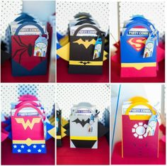 Anders Ruff Custom Designs, LLC: Super Hero Party Packed with Action- Superhero Favor Bags