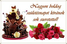 születésnap, szülinap, torták, virágok, képek, képeslapok, idézek, köszöntők Happy B Day, Happy New Year, Birthday Cards, Happy Birthday, Birthdays, Greeting Cards, Place Card Holders, Cake, Google