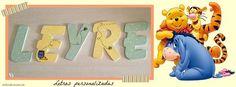 La pequeña Leyre ya tiene letras personalizadas para su habitación de Winnie The Pooh. Hechas a mano en Wisteria. wisteriadecoracion.com