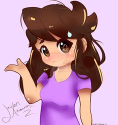 Jaiden Animations Fan-Art by Puffy-Paws
