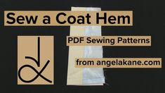 Coat Pattern Sewing, Pdf Sewing Patterns, Ebooks, Logos, A Logo, Legos