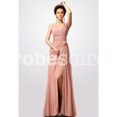 robe de soirée col v décolleté sans manche réf 4102