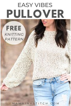Easy Sweater Knitting Patterns, Knit Cardigan Pattern, Diy Crochet And Knitting, Free Knitting, Crochet Things, Knit Patterns, Yarn Twist, Simply Knitting, Sewing Leather