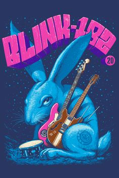 For everything Blink 182 check out Iomoio Rock Posters, Band Posters, Music Posters, Blink 182 Poster, Rabbit Art, Music Love, Dope Music, Amazing Music, Vinyl Toys