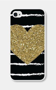 Case Gold iPhone Case Glitter Heart
