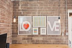 Love frame arrangement.