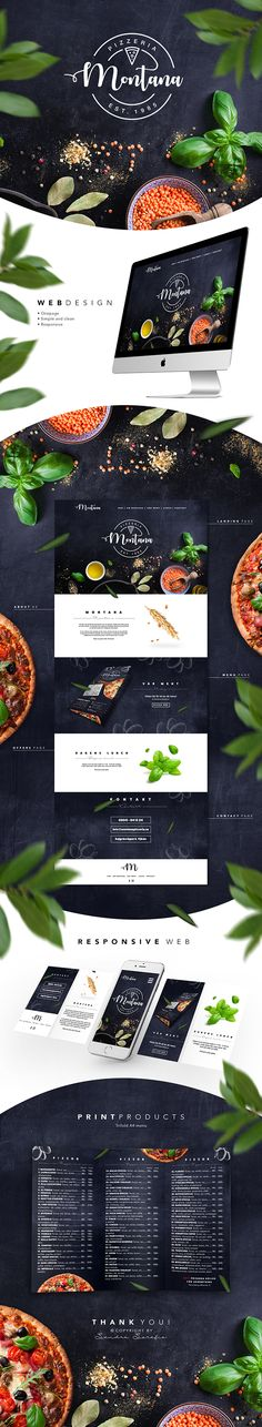 This is a concept I developed for Montana Pizzeria in 2016. I have been working with the production of the logo, print materials, metal plate and web design. The metal plate is not among the pictures.
