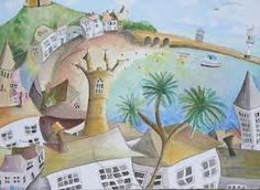 cornish harbour paintings - Google Search