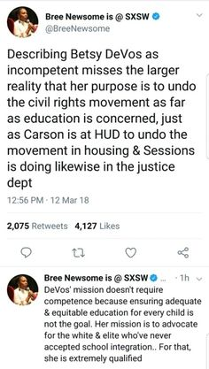 You've missed another primary goal of DeVos & the GOP & that's to do everything she can to push vouchers & Christianity into the public education system. Pushing in Christianity & federal funding of Christianity into schools is & always has been on her list & the GOP's list for the DOE. They've both also been actively against Evolution, Science, Sex Ed, & History that they can't control the narrative to. If researched you will see this in DeVos' interests & nationwide through the GOP's…