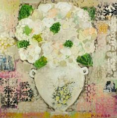 Honey a Hydrangea and a Kiss 36x36 by Christy Kinard
