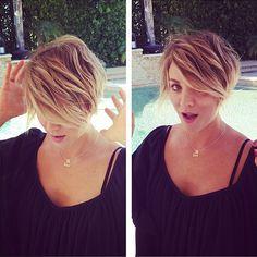 Kaley hair cut