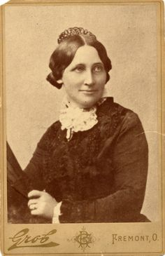 """Lucy Webb Hayes was affectionately termed Ohio Wesleyan University's """"first co-ed, """" although she did not graduate from the university. Her family lived near campus and the university permitted her to attend classes in the all-male college. She married Delaware, Ohio native Rutherford B. Hayes, who served as president of the United States from 1877-1881.c. 1877"""