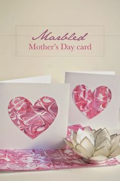 A house full of sunshine: Marbled Mother's Day cards (that a kid can make!)