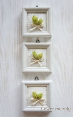I made two new small however very affordable new works. Diy Craft Projects, Diy And Crafts, Dusty Miller, Do It Yourself Crafts, Crochet Art, Flower Frame, Box Frames, Shabby Chic Decor, Dried Flowers