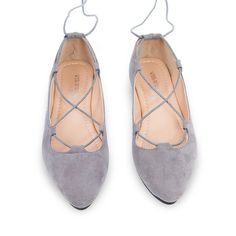 Leather Ballet Flats Shoes