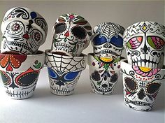 Day of the Dead sugar skull Flower Pot You Pick Planter Halloween Dia de los Muertos outdoor decor MADE TO ORDER