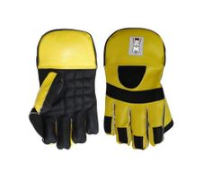 AM Wicket Keeper Yellow Black Cricket Gloves
