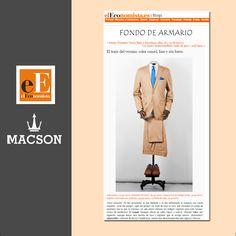elEconomista.es elige nuestro traje de lino camel para un total look veraniego. #macson #macsonshop
