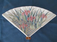 Vintage Decorative Porcelain Fan Plate With Floral by BitofHope