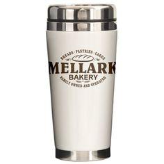 Mellark Bakery Ceramic Travel Mug For Sale / just imagine after peeta's family dies, peeta, their kids, and maybe Katniss running the bakery!!!!!!