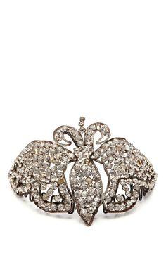 1920'S Rhinestone Butterfly Crown by New York Vintage - Moda Operandi